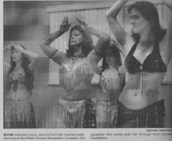 Angela, Kahreen, and Nadira - Miami Herald Article Sept. 2004
